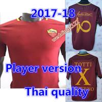 Wholesale Rubber Shirts - Copy player version quality 2016 TOTTI DE ROSSI third Jerseys Rubber Serie A PJANIC DZEKO home away 2016 2017 Romas Jerseys shirts