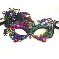 Wholesale Sexy Woman Cosplay - Halloween Sexy Masquerade Masks Gilding Lace Masks Venetian Half Face Mask Nightclub mask Eye Mask For Cosplay Party Christmas Day