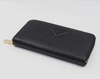 dobrando mulheres bolsa venda por atacado-Chegada nova Moda Marca Designer Mulheres Dobrar Carteira Embreagem Bolsas Saffiano saco longo cartão carteira GG30