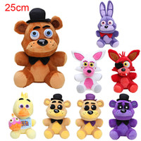 Wholesale Freddy Plush - 25cm Five Nights At Freddy FNAF Dolls & Stuffed Toys Golden Freddy fazbear Mangle foxy bear Bonnie Chica Plush Doll