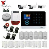 hırsız hırsız alarm sistemi toptan satış-Toptan Satış - YobangSecurity Intruder Alarm Sistemi Wifi GSM GPRS Ev Güvenlik Sistemi Güneş Enerjisi Siren Açık IP Kamera ile Hırsız Alarmı