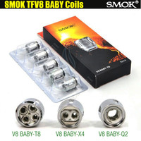 Wholesale Head Atomizer Core - Top quality SMOK TFV8 Baby Coil Head Replacment T8 0.15ohm X4 0.15ohm Q2 0.4ohm core Smoktech TFV8 Beast V8 Tank Atomizers clone coils DHL