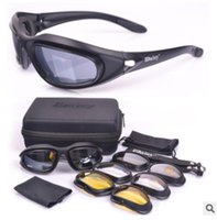 Wholesale C5 Kit - Daisy C5 Army Goggles, Military Sunglasses 4 Lens Kit, Men's Desert Storm War Game Tactical Glasses Sporting