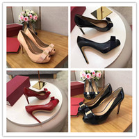Wholesale High End Dress Shoes Leather - 2017 Top designers high-end luxury leather fashion elegant and comfortable original single quality women's High heels