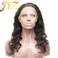 Wholesale Chinese Baby Hair - 360 Lace Frontal Band Body Wave Natural Hairline With Baby Hair Virgin Brazilian Body Wave 360 Lace Frontal Closure