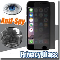Wholesale Shield For Iphone 4s - Privacy Tempered Glass Screen Protector Anti-Spy Shield 9H Hardness Premium Real Film Protective For iPhone X 8 7 Plus 6 6S 5S 5 4S 4