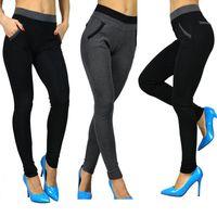 Wholesale Korean Drop Pants - Drop Shipping Women Spring Autumn Warm pants Korean Fashion Slim Pencil Pants Ladies High Waist Winter Warm Trousers Female