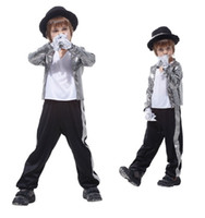 Wholesale 12 Days Christmas Costumes - Shanghai Story HOT! Superstar Michael Jackson performence suits Halloween children cosplay costume singer dance suits
