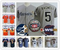Wholesale Houston Astros Jeff Bagwell Hall Of Fame World Series th gray white pinstripe orange rainbow mesh Red throwback Stitched Jerseys