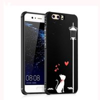 Wholesale 3d Huawei Phone Case - for iPhone 7 Huawei P10 P9 P8 Lite Plus 2017 Nova Case Silicone Soft 3D Relief Carved Lovely Cute Cat Girl's Phone Cover