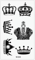 Wholesale Eye Makeup For Men - Wholesale-(Min order $0.5) Temporary Tattoo For Man Woman Waterproof Stickers makeup maquiagem make up crown Tattoo WM019