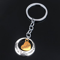 Wholesale Mom Keychains - Heart Key Chain Mom Dad Daughter Sisther Brother Alloy Keychains Famliy Members Key Rings Jewelry Gifts