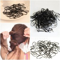 Vente en gros - Chaud! 300pcs / set Cravates Braids Tresses Rubber Hairband Corde Ponytail Holder Elastic Hair Band Nouvelle mode
