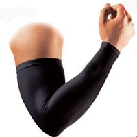 Wholesale Knee Protector Basketball - 1pcs Arm Sleeve Outdoor Sports Cycling Camping Sunscreen Sleeves Cover Hand Arm Elbow Protector Gear Basketball Football Long Sleeves