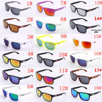 Wholesale Wholesale Cat Eye Frames - 9102 10pcs holbrook SunGlasses For Men Summer Shade UV400 Protection Sport Sunglasses Men Sun glasses 18Colors Hot Selling 10pcs