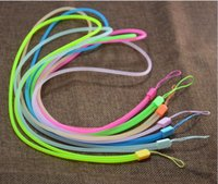 Wholesale Round Cord Lanyards - Round Lanyard Mobile Cell Phone Key USB Badge Cords Strap Random Color good quality