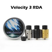 Wholesale E Cigarette Rebuildable Atomizer - Velocity V3 RDA E Cigarette Vaporizers Velocity 24 Rebuildable Dripping Atomizers With Wide Bore Driptip Bottom Airflow Atomizers