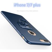 Wholesale Shell Holder Plastic - 6 Colors 360 Degree Full Cover Case Finger Ring Grip Hook Holder Phone Shell Protect Case for iPhone 6   6S 7 7 Plus