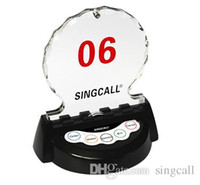 Wholesale singcall wireless pagers vip room call button APE950 in VIP room of auto s shop or sales office for customer calling waiter Table pager
