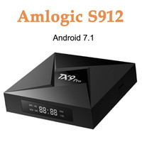 Wholesale smart tv bluetooth - TX9 Pro TV Box Android 7.1 3GB 32GB Amlogic S912 Octa-Core Bluetooth 4.1 1000M LAN 2.4G 5G WiFi Smart Media Player Set Top Boxes