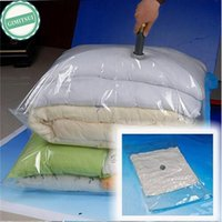 Wholesale Vacuum Pump For Clothes Bags - Wholesale- Home Storage Vacuum Space Saver Bag, Compressed Organizer Clothing Quilt Air Pump Seal Bag for Organizing Cupboard Wardrobe