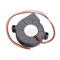 Wholesale Dc 12v Brushless Cooling Fan - Wholesale- DC 12V 0.06A 50x15mm Black Brushless Cooling Blower Fan 2 Wires 5015S Best Price
