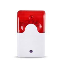 sistemas de seguridad para el hogar sirena al por mayor-1 Sets Mini Sirena Strobe con Cable Durable 12 V Sonido Strobe Luz Intermitente Sirena Luz Roja Sistema de Alarma de Seguridad para el Hogar 110db