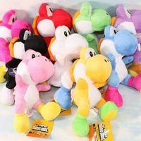 "Wholesale Purple Yoshi Plush - 10Pcs Lot 4""10cm Super Mario Bros Yoshi Plush Toys Stuffed Soft Dolls With Keychains 10 Colors Free Shipping"