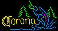 "Wholesale Fly Ul - Corona Mountain Flying Fish Neon Sign Custom Handmade Real Glass Tube Store Beer Bar KTV Club Hotel Advertisement Display Neon Signs 17""X10"""