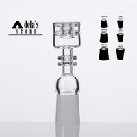 Wholesale Elegant Double - Diamond Knot Quartz Nail Double Stack Stacker 10mm 18mm 14mm Male Female Elegant Design No Carb Cap Gift Club Dad Rig 523