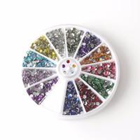 Wholesale Diy 3d Resin Nail Art - Nail Art Rhinestones Wheel Non Hot Fix Rhinestone SS10 Resin Beads 12 Mix Colors 3D Phone Case DIY Decoration Colorful Stone