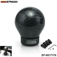 Wholesale Automatic Gear Shifter Knob - EPMAN -Carbon Shift Knob For Manual Automatic Car Real Carbon Fiber Ball Gear Shift Shifter Knob Head EP-SK1717S