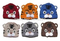 Wholesale Kids Tiger Bonnet - Kids Toddlers Baby Girls Boys Knit Cute Tiger Hat Cap Beanie Bonnet