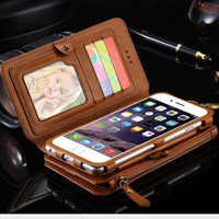 Wholesale water defender - Luxury Wallet case for Iphone X iphone 8 7 6 6s plus galaxy s7 S8 S9 mate P9 soft Retro leather hybrid cover holder defender case GSZ116