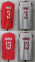 2017 2018 New Style Cheap Houston # 3 Chris Paul Jersey College Shirt Uniforme Red White Black Atacado 13 James Harden Jerseys