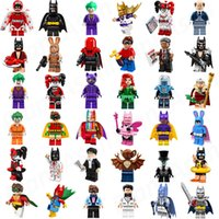 Wholesale Robin Figure - Hot Sale Bat Movie Figures Super Collection Heroes Batgirl Joker Bat Man Harley Quinn Golden Robin Super Hero Mini Building Blocks Figure