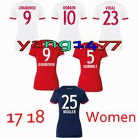 Wholesale Womens Jersey Tops - TOP QUALITY 2017 2018 JAMES VIDAL COATA home away 3RD red Women jerseys LEWANDOWSKI MULLER ROBBEN GOTZE BOATENG ALABA Womens shirt