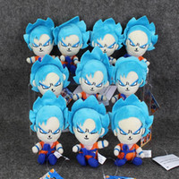 Wholesale Dragon Ball Z Plush - 10pcs lot dragonball Dragon Ball Z Super Saiyan Son Goku Vegeta Plush Toy keychain Pendant Soft Stuffed Doll