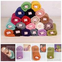 Wholesale Newborn Hammock - Baby Cheesecloth Wrap Mohair Swaddle Hammocks Infant Swaddling Blankets Newborn Parisarc Bedding Sleepsacks Scarves Photography Props B1042