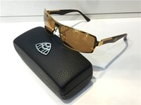 Wholesale Gold Temple - G-WA-Z07 Luxury Car Brand Maybach Sunglasses 18K Gold Plated Sunglasses Pilot Frame Spring Temples Men Brand Designer Sunglasses With Case