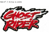 """Wholesale Iron Rider - 4"""" Marvel Comics Ghost Rider Flaming Movie TV Series Costume Embroidered iron on patch Tshirt TRANSFER APPLIQUE diy"""