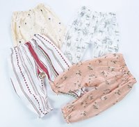 Wholesale Girls Boots Flowers - Summer New Kids INS Lemon Fruits Pants Baby Boy Girl Strawberry Geometric Loose Harem PP Pants Trousers Pants Shorts Leggings 6styles
