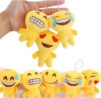 Wholesale Video Game Favors - Halloween Emoji Plush Keychain Pumpkin Ghost Emoji Party Supplies Favors Bags Car Key Ring Pendant Keychain Decorations KKA2244