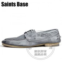 Wholesale Rubber Wood Grain - Puppy Heel Brand Wood Retro Cowhide Plain Real Smooth Leather Wood Grain Soft Leather Boat Shoes Mens Shoes Genuine Leather