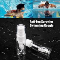 Wholesale glasses cleaner spray - Wholesale- Portable Adult Anti-Fog Spray Empty Box for Swim Goggles Mask Lens Cleaner Swimming Sports Glasses Accessories