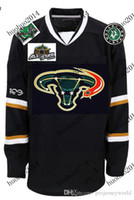 Wholesale Full Bull - 100th Patch Mens' Dallas Stars Jersey 2007 All Stars Game Patch Customized with any name & number Black Bull Jersey Free Shipping