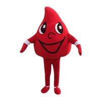 Wholesale Custom Blood Drop Costumes - Red blood drops Mascot Costumes Cartoon Character Adult Sz 100% Real Picture