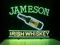 "Wholesale Irish Bar Signs - New Jameson Irish Whiskey Glass Neon Sign Light Beer Bar Pub Arts Crafts Gifts Lighting 22"""