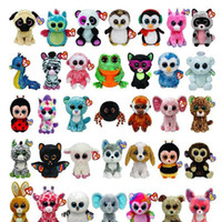 Wholesale Doll Eyes For Sale - 50 pcs Ty Beanie Boos Plush Stuffed Toys Big Eyes Animals Soft Dolls for Kids Birthday Gifts Hot Sale GB040