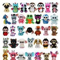 ingrosso grandi bambole in vendita-50 pezzi Ty Beanie Boos Peluche Ripiene Giocattoli Grandi occhi Animali Bambole morbide per bambini Regali di compleanno Vendita calda GB040